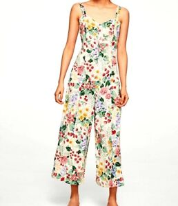 NEW-Mango-Floral-Print-Jumpsuit-RRP-49-SOLD-OUT-in-store-Size-XS-S-M-L