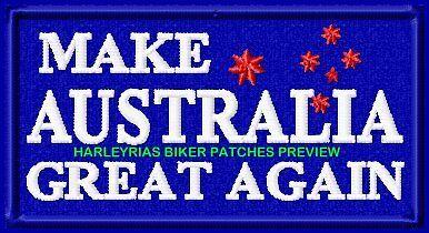 MAKE AUSTRALIA GREAT AGAIN  VEST PATCHES