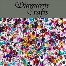 1000 1mm Mixed Colour Diamante Loose Flat Back Rhinestone Nail Body Art Vajazzle