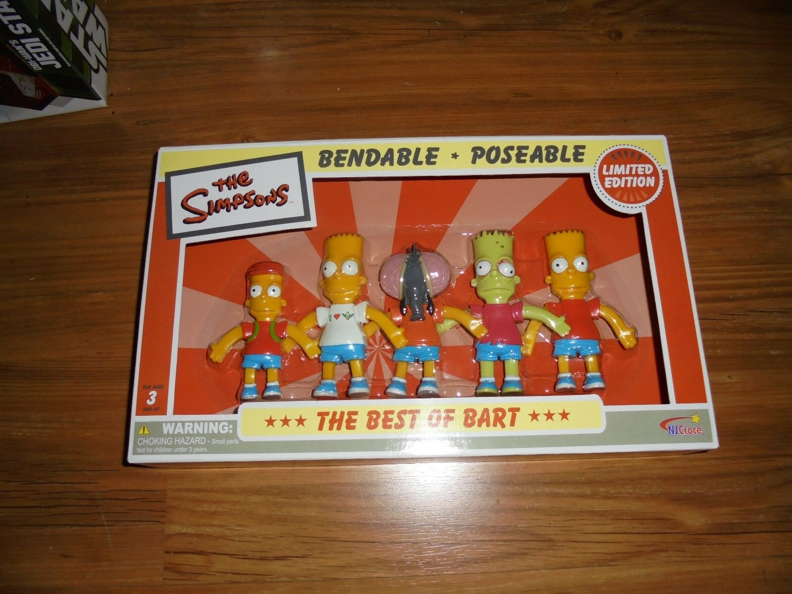 Simpsons  The Best Of BART  Limited Edition Bendable & Poseable 5pc Set 2006