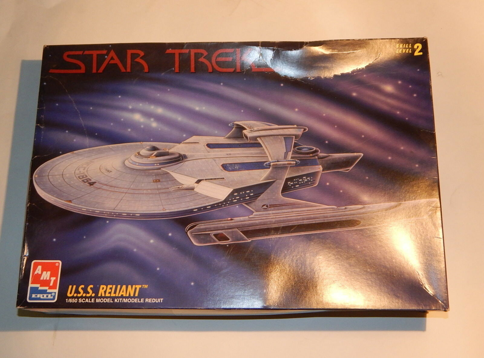 NIB AMT ERTL Star Trek USS Reliant 1 650 Scale Model Kit  1995
