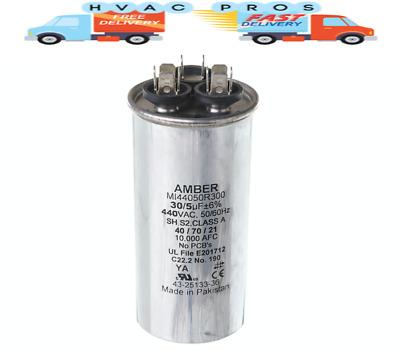 40//5 uf MFD 370//440 Volt VAC fits Kenmore # HQ1050817AX ClimaTek Round Capacitor