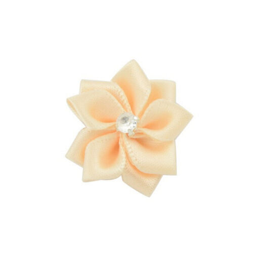 DIY10 Baby Kids Satin Flower Hair Bow For Headband Hair clip Wedding Decor YH