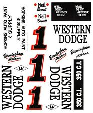 #1 NEIL BONNETT Western Dodge Alabama Gang 1/18 Scale Waterslide Decals