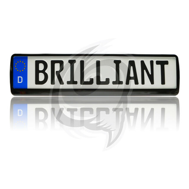 2x Brilliant Black License Plate Holder Tuning Frame BMW 5 Series ...