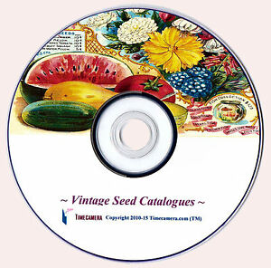 VINTAGE SEED CATALOGUE COVERS - Pro Print Making. Restored Images Disc.