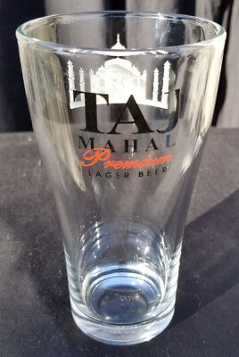 FREE SHIPPING! 6 x Taj Mahal Lager Beer Glasses LOT 12oz glass Indian India NEW