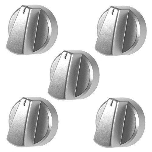 5 x belling four, cuisinière, plaque de cuisson Gaz Bouton Contrôle Interrupteur argent véritable partie knobs