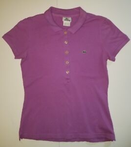 LACOSTE-Girls-Short-Sleeve-Purple-Polo-Shirt-Size-38-A2
