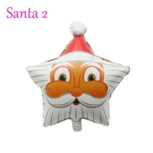 2pcs Aufblasbar Folienballon Weihnachten Weihnachtsmann Geburtstag Dekor