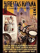 Pubblicità Esposizione Carnevale FIESTA Cuba HAVANA MASCHERA DANCE poster stampa lv758