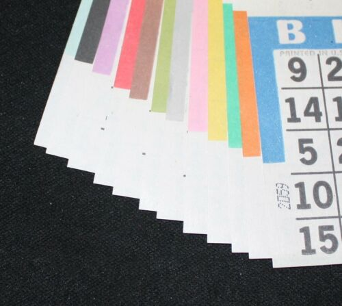 BINGO PAPER Cards sheets 6 on 4 up Yellow Tint 50 packs FREE PRIORITY SHIPPING