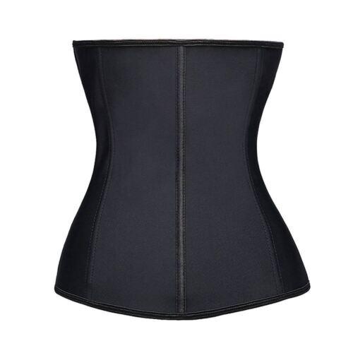 UK Top Fashion Zipper Latex Rubber Waist Trainer Weight Loss Cincher Slim Corset