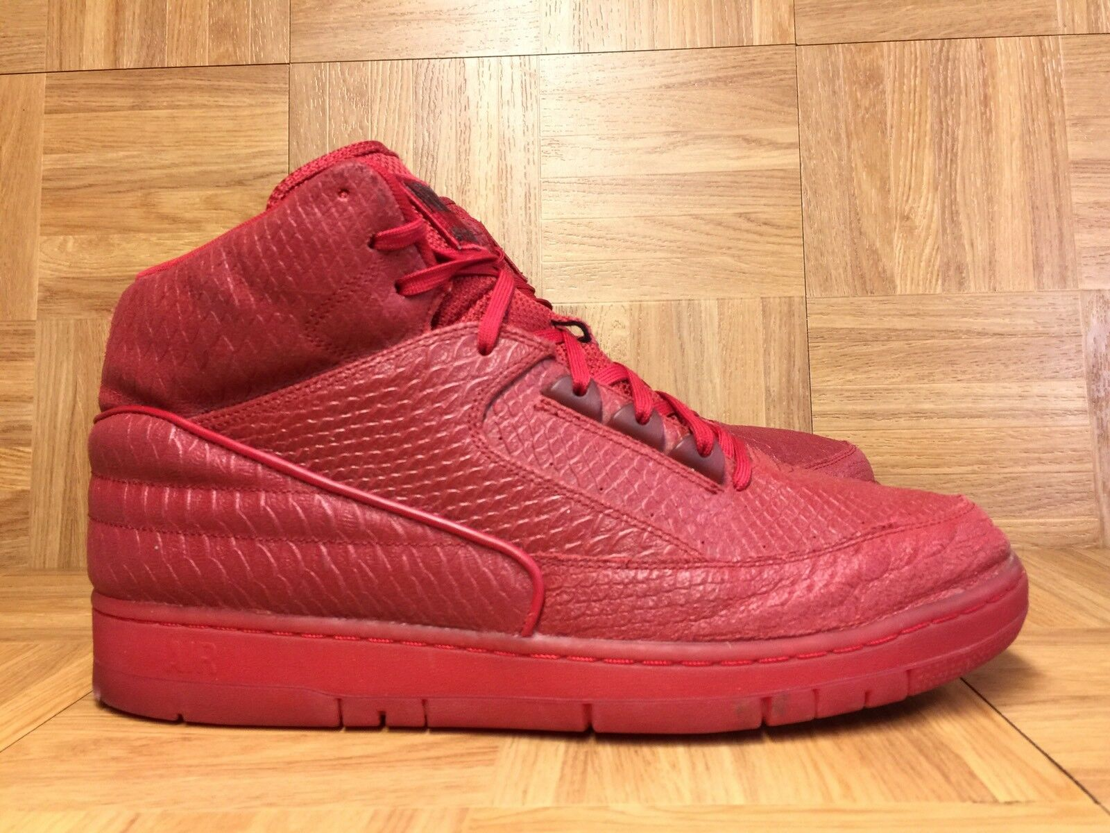 RARE Nike Air Python PRM Red October Gym Red Black Sz 13 705066-600 Snakeskin