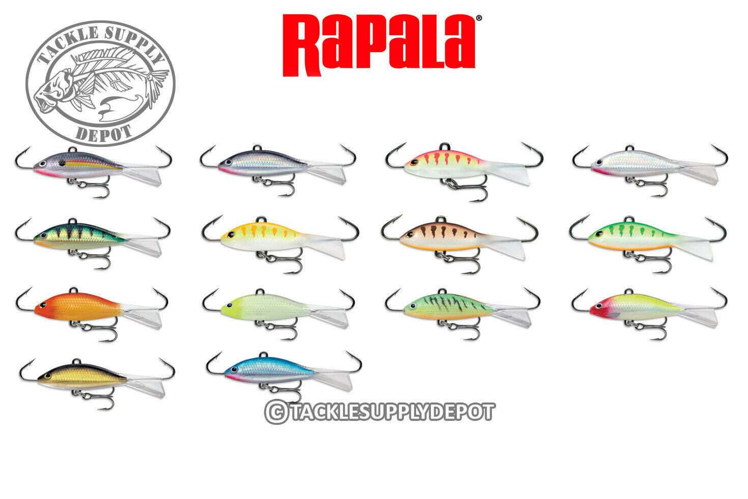 Lot Of 2 Rapala Jigging Shad Rap WSR05G Gold 2in 5//16oz