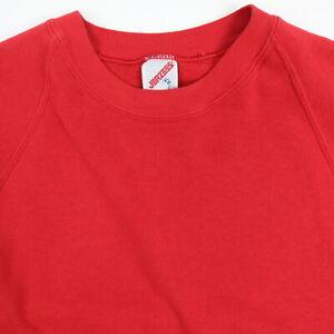 Vtg-80s-90s-JERZEEs-Raglan-Sweatshirt-MEDIUM-Faded-Red-Buttery-Soft-Thin-Grunge
