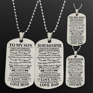 DI- To My Son Daughter Necklace Gifts For Mother Father