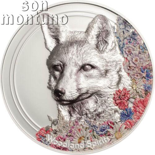 1 oz Silver High Relief Coin 2018 Mongolia NEW SERIES Woodland Spirits FOX