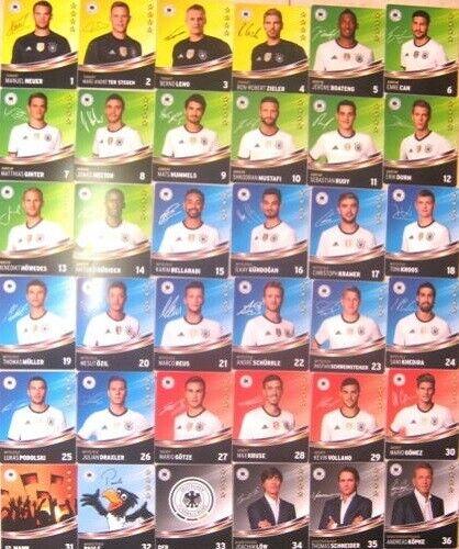 Rewe DFB EM 2016 Frankreich Sammelkarten komplett Set alle 36 Karten
