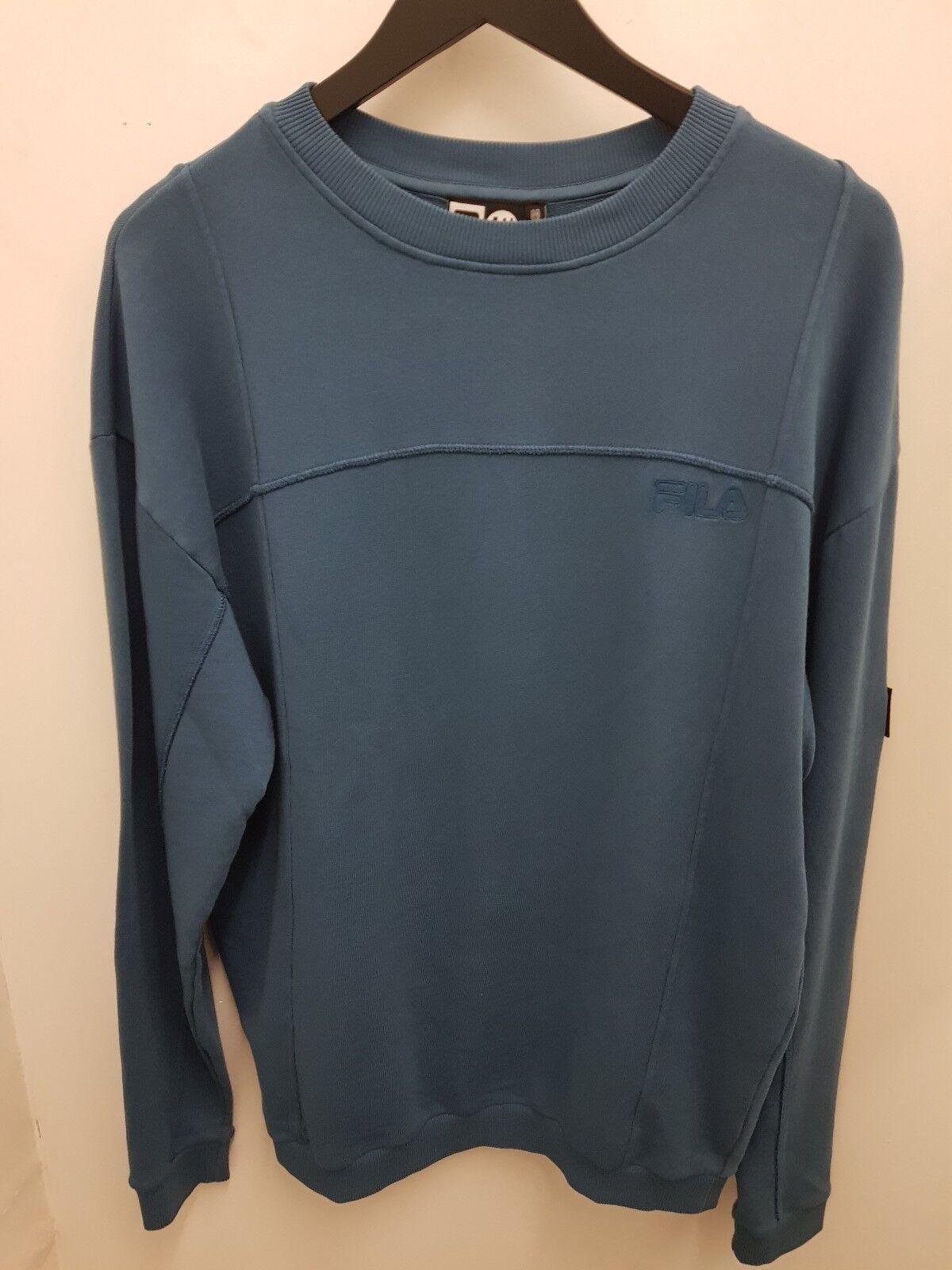 Fila X Liam Hodges  Herren Crew Sweater Blau Ash M Medium