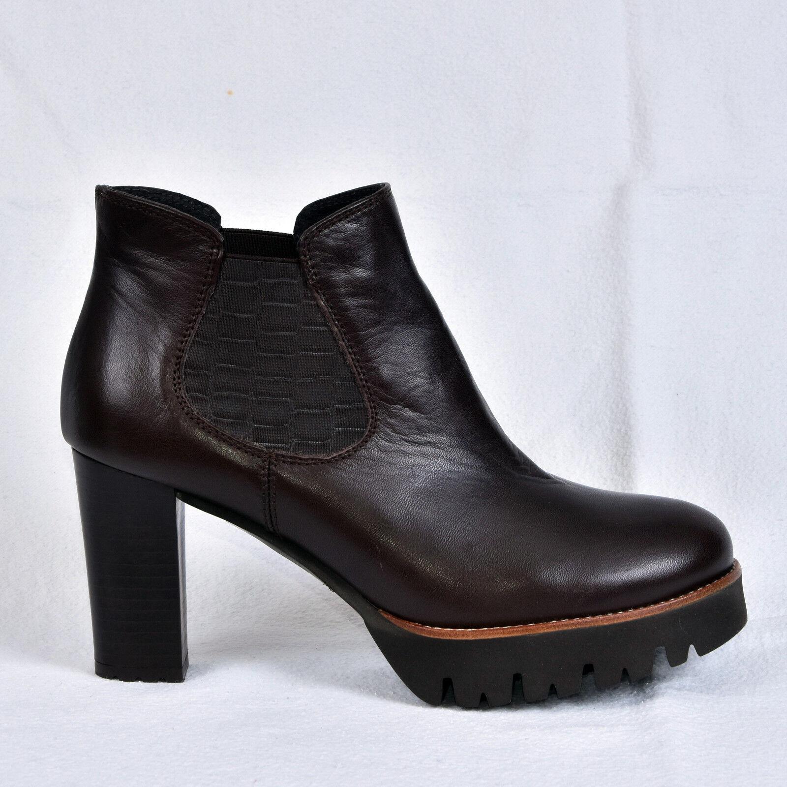 Gadea señora botines botas marrón de cuero nuevo
