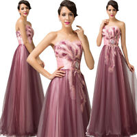 Tulle Formal Wedding Evening Ball Gown Party Prom Bridesmaid Dress UK Size 6-18ღ