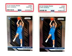 INVEST-Lot-of-2-2018-19-Panini-Prizm-280-Luka-Doncic-RC-Rookie-PSA-10-GEM-MINT