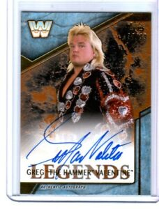 WWE-Greg-The-Hammer-Valentine-2017-Topps-Legends-Bronze-Autograph-Card-SN-33-99