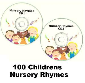 100-KIDS-Childrens-Singalong-Songs-Favourite-NURSERY-RHYMES-2-X-CDs