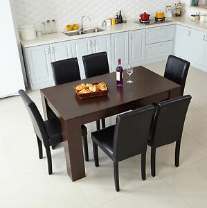 Modern Walnut color (1.2m)Dining Table 2/4 Seats Dining Room Home Furniture