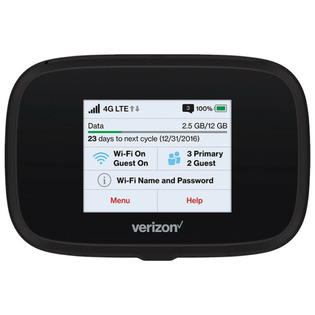 Novatel Jetpack MiFi 7730L Verizon Wireless WiFi 4G LTE Mobile Hotspot