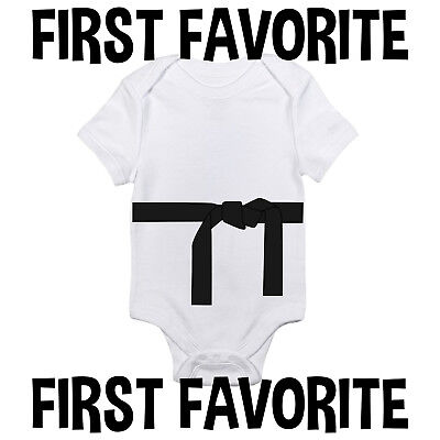 Black Belt Baby Onesie Shirt Karate Martial Arts Shower Gift Newborn Gerber