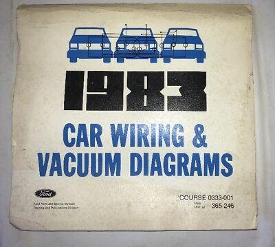 1983 FORD CAR VACUUM & WIRING DIAGRAMS MANUAL MUSTANG ...