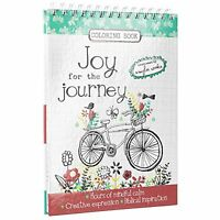 joy For The Journey Hardcover Inspirational Adult Coloring Book