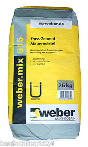 615 tra zement mauerm rtel 25 kg tra zement. Black Bedroom Furniture Sets. Home Design Ideas