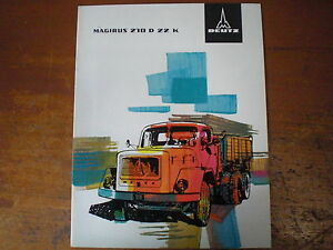 Sales Brochure   Prospekt Sales Brochure Magirus Deutz 210 D 22 K Dreiachs Kipper Lkw