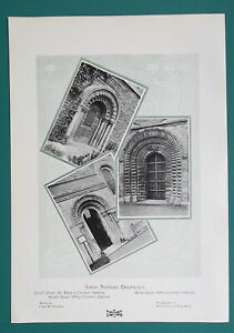 NORMAN-ARCHITECTURE-Doorways-in-Oxford-1904-Art-Nouveu-Era-Print
