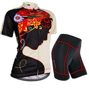 Women Sports Cycling Jersey Bike Short Sleeve Clothing Bicycle Shirts S-XL