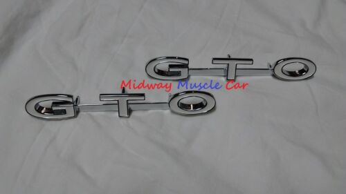 NEW  1969 69  Pontiac GTO     front fender side GTO emblem