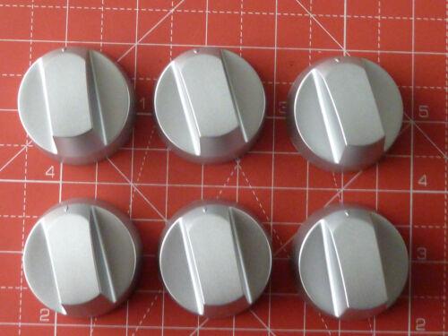 6 X Four//Plaque//Cuisinière Universal Knob Argent Convient Whirlpool avec instructions