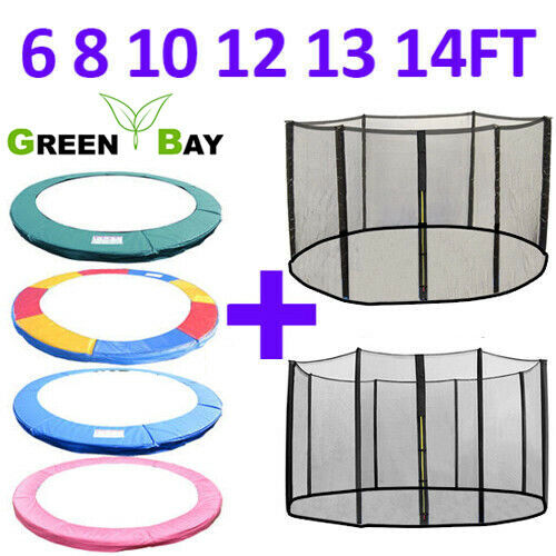 TRAMPOLINE REPLACEMENT PAD PADDING SAFETY NET ENCLOSURE 6 8 10 12 13 14 ft