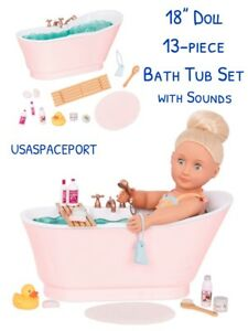 18 Doll Bath Tub Set With Sounds For Our Generation American Girl
