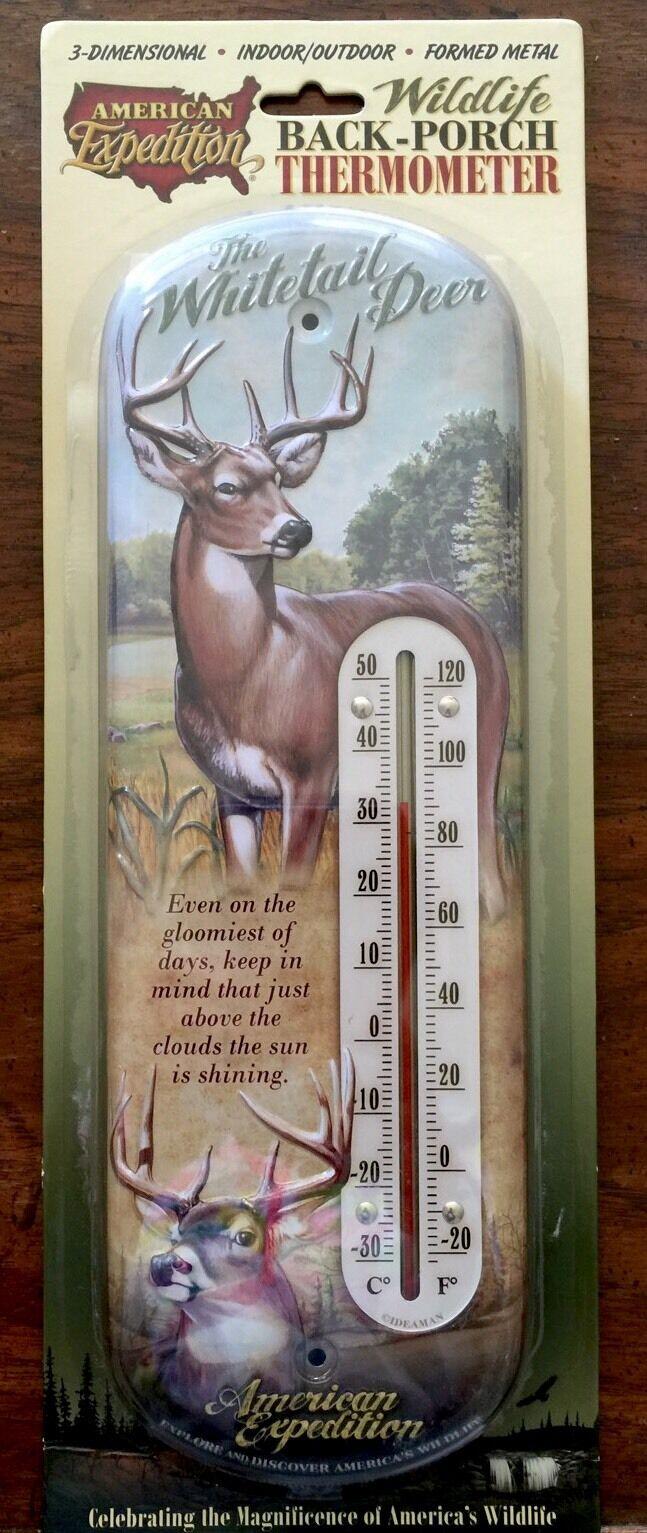 whitetail Deer Thermometer Indoor/0utdoor Buck Hunting