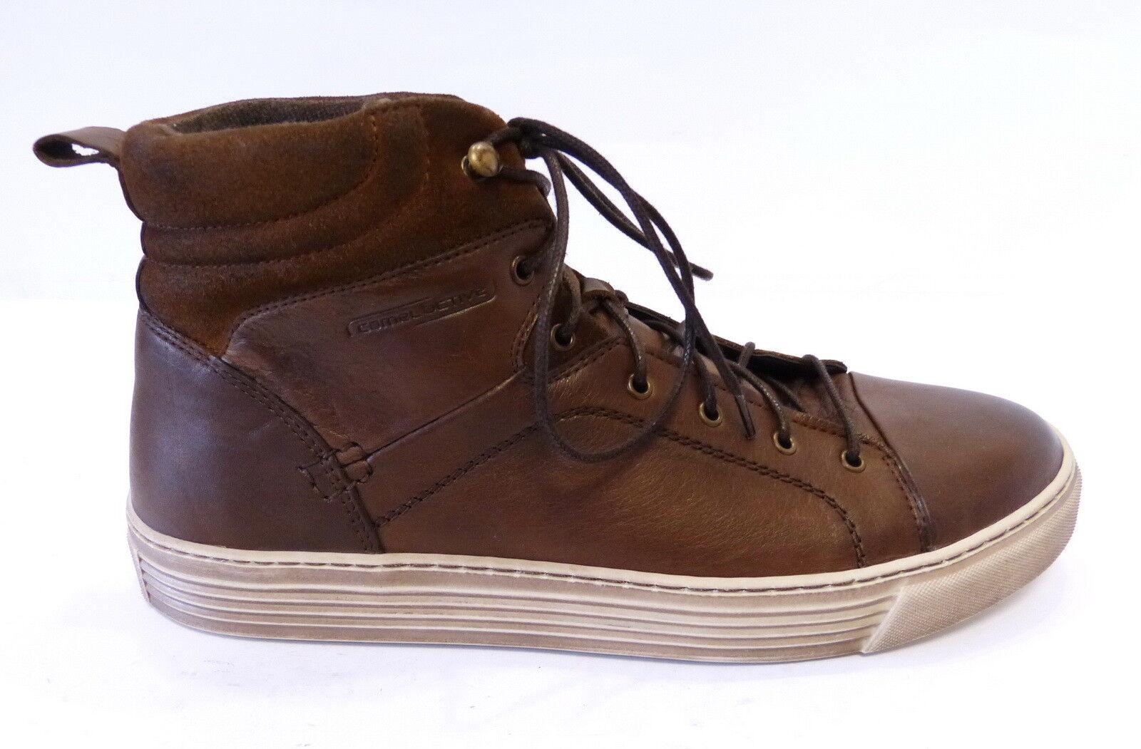 Camel Active Trend High Top Schnür Sneaker Bowl 42912 01 bison braun nut Leder