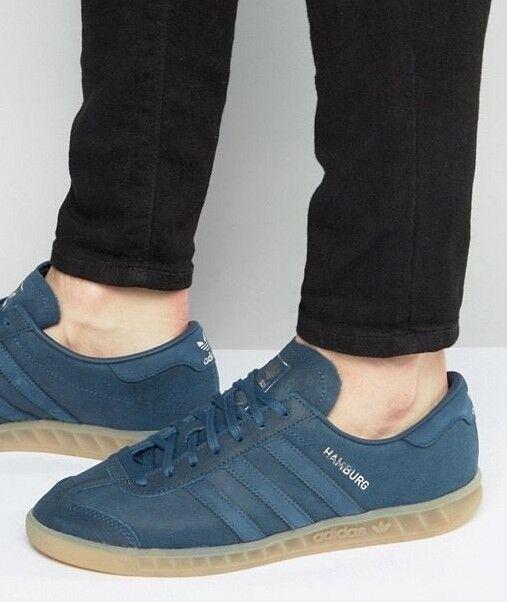 NEW Adidas Hamburg Mineral Blue Men's Leather  Gum Sole Men's Blue 13  samba spezial trimm c8e3fd