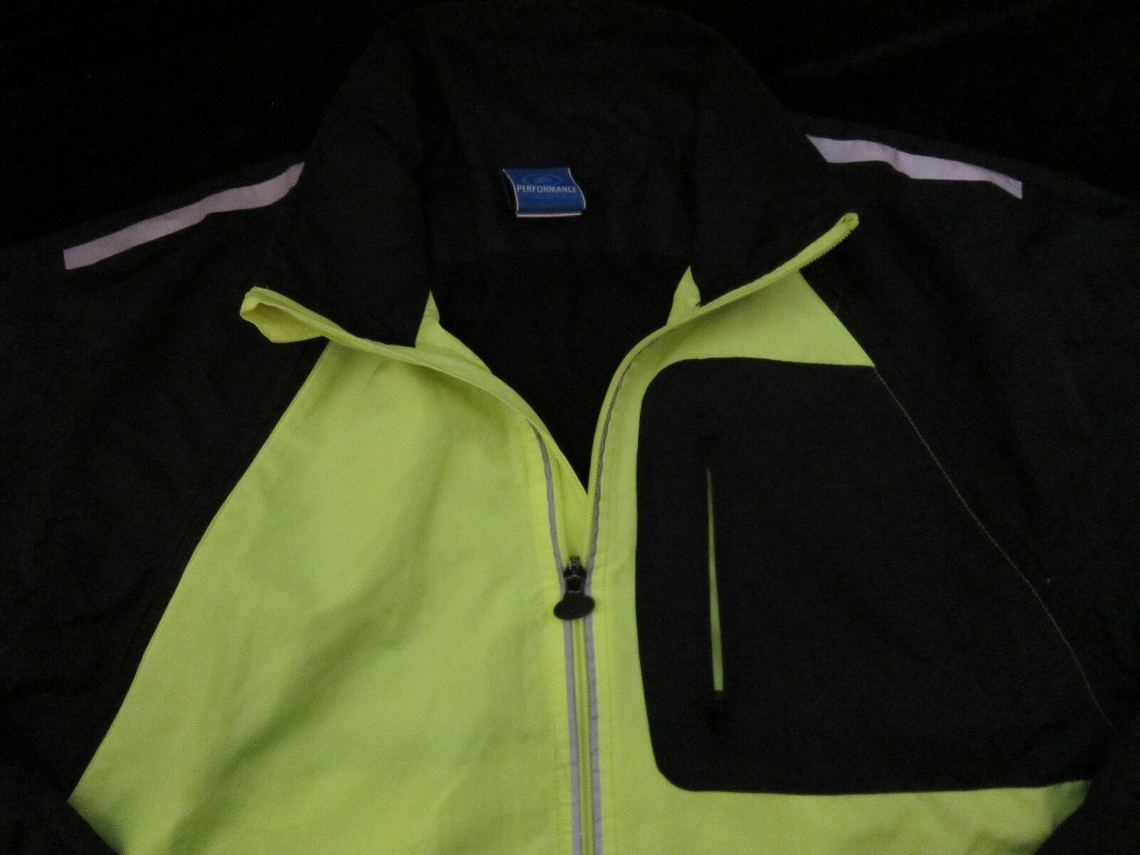 RENDIMIENTO Para hombre chaqueta pequeña gritando amarillo CICLISMO Chaleco con cremallera mangas cortas