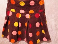 "Gymboree ""Purrfect Autumn"" Polka Dot Pleat Twirl Brown Brushed Velvet Skirt, 5"