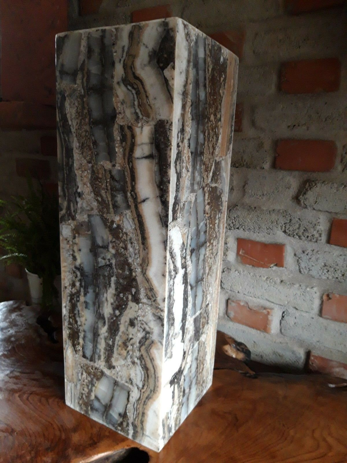 Säule Sockel  Onyx Naturstein Beleuchtung Ablage Romantik   Dekoration Bali