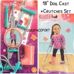 Image Is Loading 18 034 Doll Injury Crutches Cast Set For
