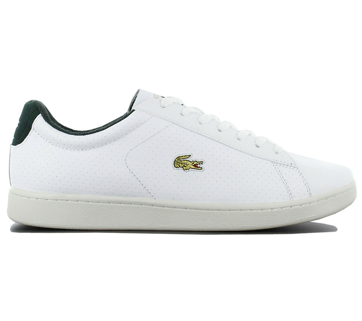 Lacoste Carnaby Evo 317 2 Leather Herren Schuhe Leder Freizeit Sneaker Weiß NEU